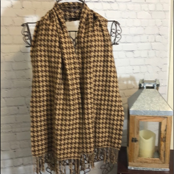 D&Y Accessories - SOFTER THAN CASHMERE SCARF WITH FRINGE BROWNS NICE